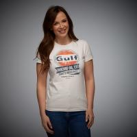 Tee-shirt Gulf Femme Oil Racing Crème