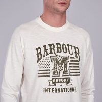 Tee-shirt Manche Longues Barbour Steve Mcqueen Whisper Blanc