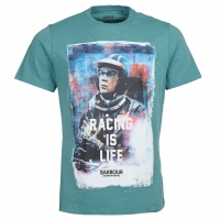 Tee-shirt Barbour Steve Mcqueen Racing Is Life Vert