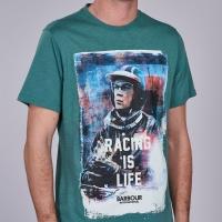 Tee-shirt Barbour Steve Mcqueen Racing Is Life Vert