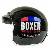 Casque Jet Boxer Flat Noir Edition Limitée