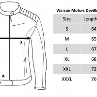 Blouson Warson Motors Cuir Deville Marron