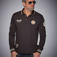 Polo Gulf Vintage manches longues anthrazit