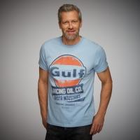 Tee-shirt Gulf Oil Racing Bleu Gulfblue