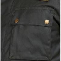 Veste Workers Barbour Intl Coton Wax Black Steve McQueen