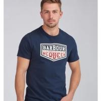 Tee-shirt Barbour Steve McQueen Torx Bleu