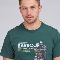 Tee-shirt Barbour Steve McQueen Side Green