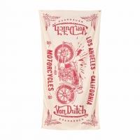 Foulard Cheche Von Dutch Beige Rouge 90x120