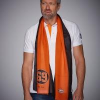 Foulard Cheche Gulf Black & Orange 69 Scarf