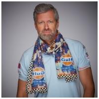 Foulard Cheche Pilot Scraf Gulf le Mans