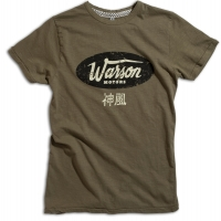 Tee-shirt Warson Motors Cycle Shack Kaki