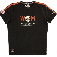 Tee-shirt Warson Motors Drag Races Carbone/Noir