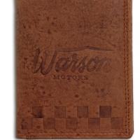Porte Monnaie Mini Warson Motors cuir Brun