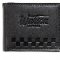 Porte Monnaie Moyen Warson Motors cuir Noir