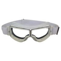 Lunette Aviator Goggle 4182 T2 cuir blanc verre incolore anti-buée