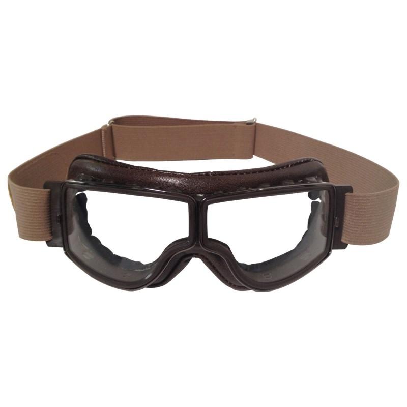 Lunette Aviator Goggle 4182 T2 marron vieilli verre incolore Anti-buée c63398f2f8c9