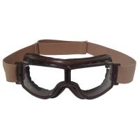 Lunette Aviator Goggle 4182 T2 marron vieilli verre incolore Anti-buée