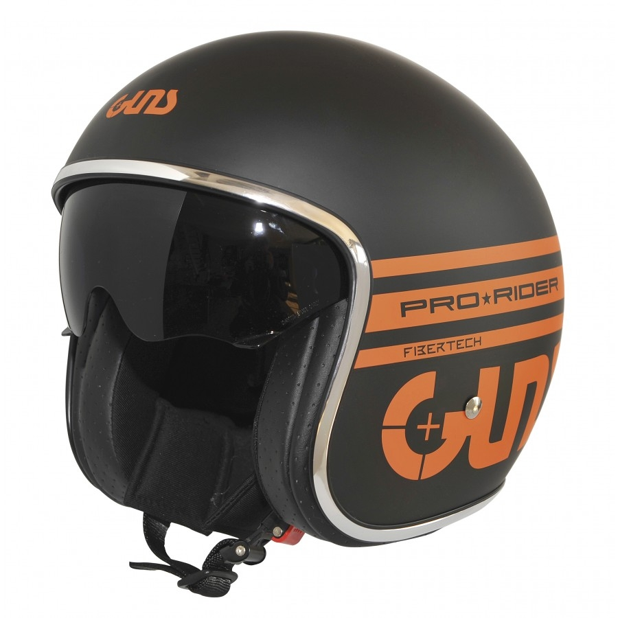 casque jet pro rider guns noir mat orange guns casques jet. Black Bedroom Furniture Sets. Home Design Ideas