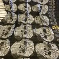 Foulard Skull Mexicain Noir