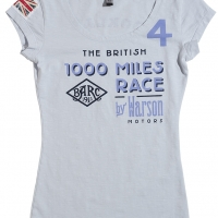 Tee-shirt Warson Motors Femme Brooklands Sky Blue