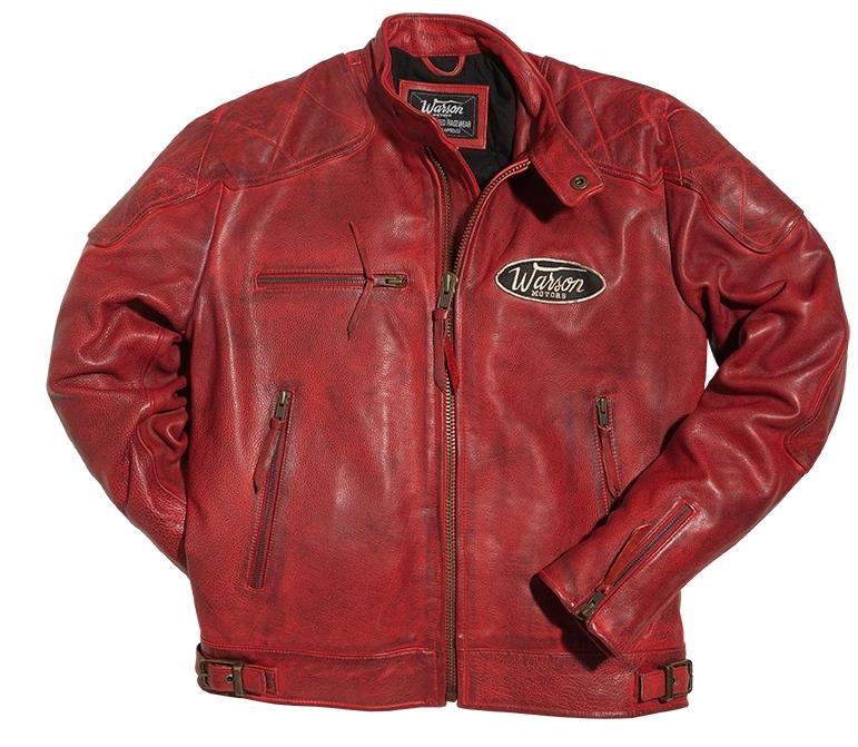Blouson moto femme cuir rouge