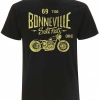 Tee-shirt Oily Rag Bonneville T100 Noir