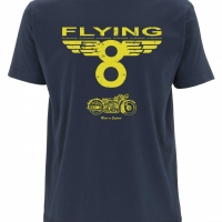 Tee-shirt Oily Rag Flying 8 Bleu